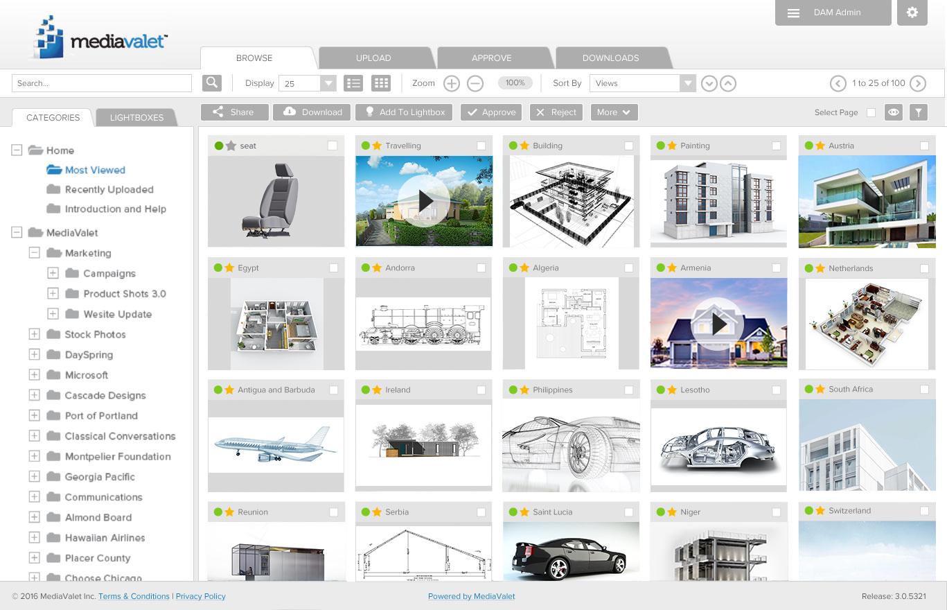 MediaValet application