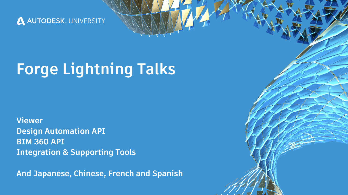 Forge Lighting Talks at AU