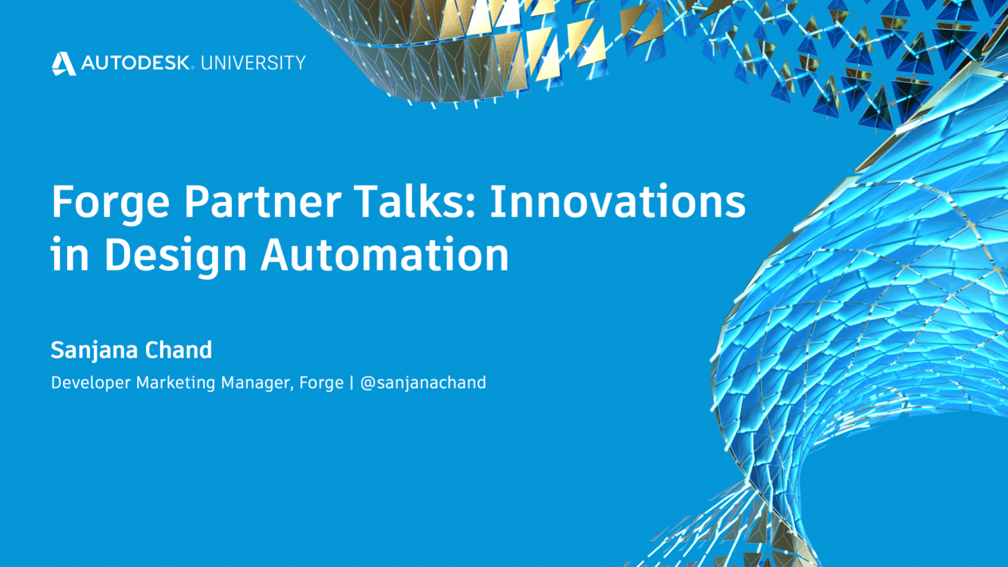 Forge Partner Talks: Innovations in Design Automation