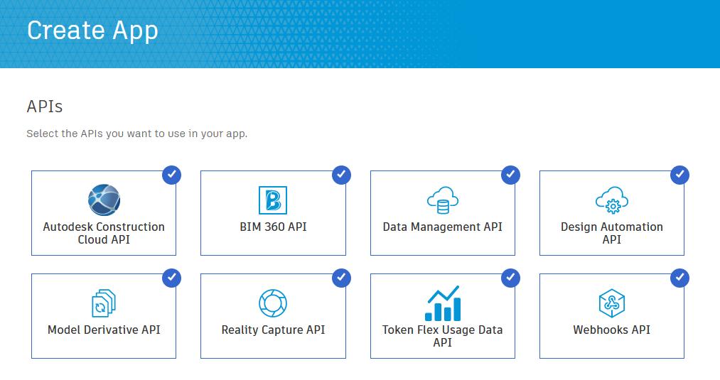 Create App ACC API