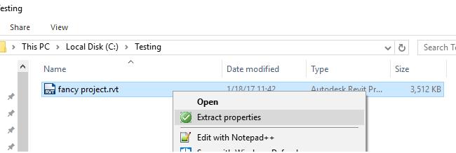 Context menu on Windows Explorer