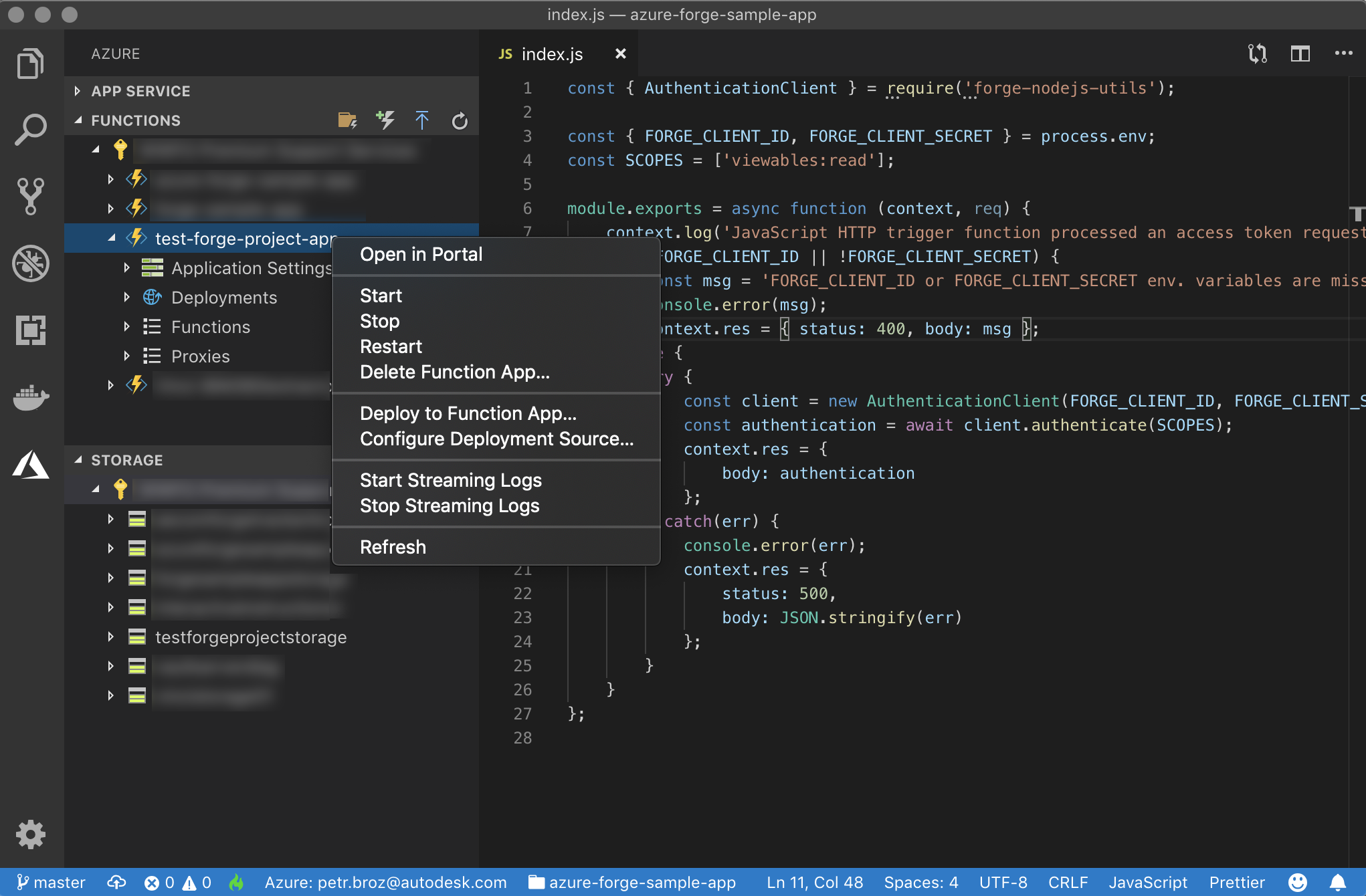 Quick deployment of Forge applications to Azure | Autodesk Forge