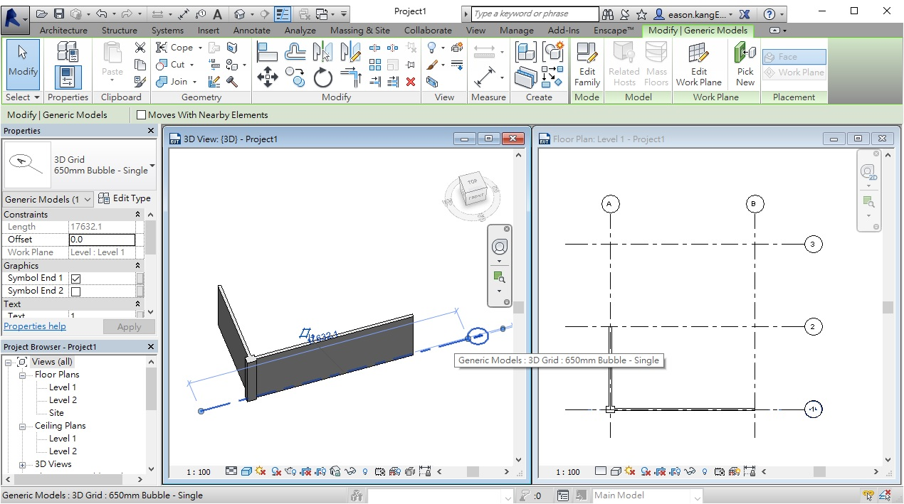 Place 3D Grid in Revit