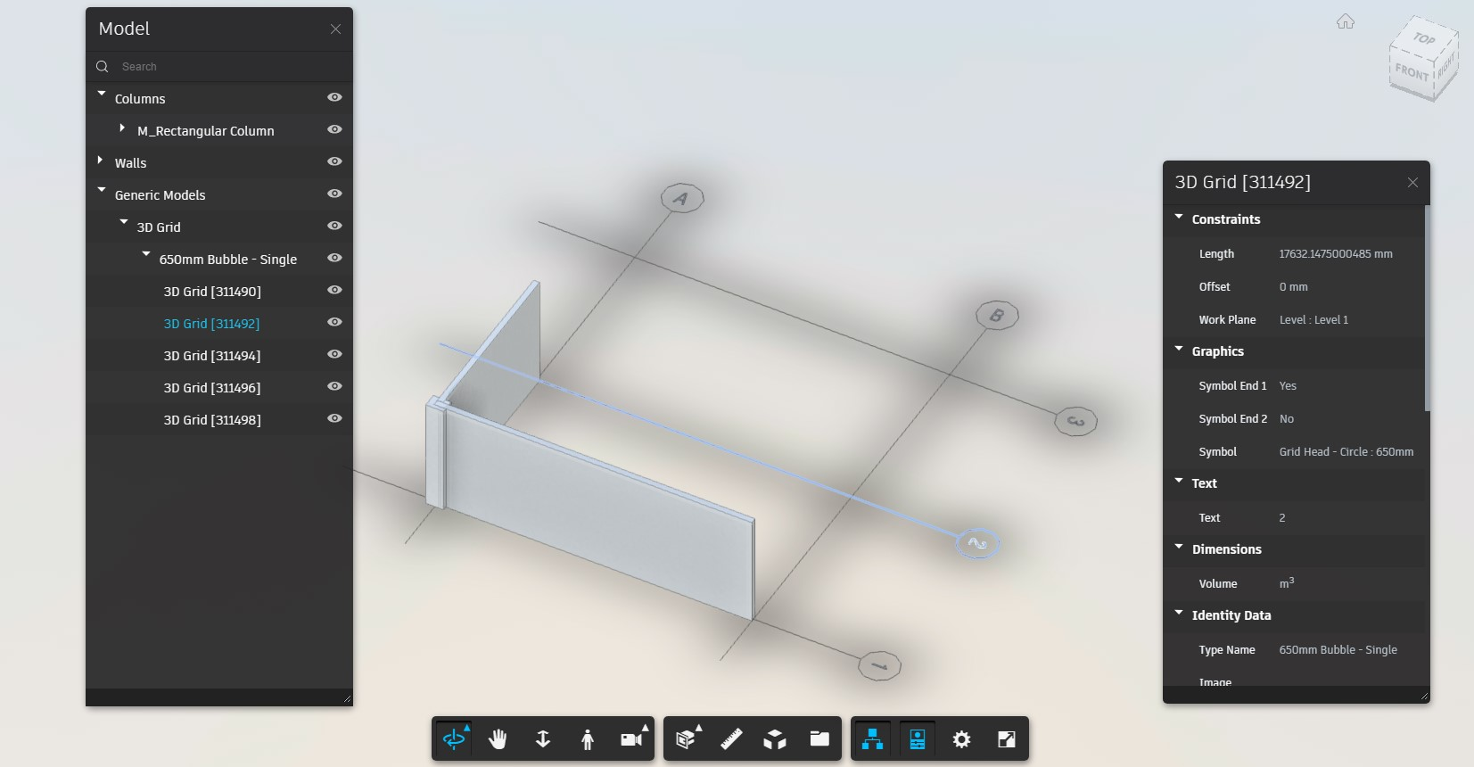3D Grid in the viewer