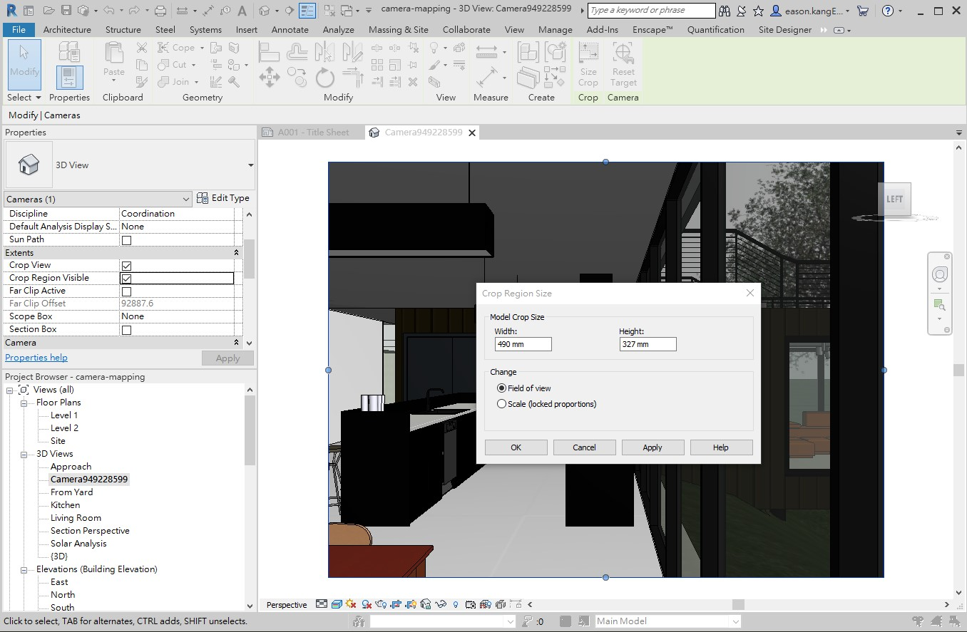 LMV Revit Edit Crop Region