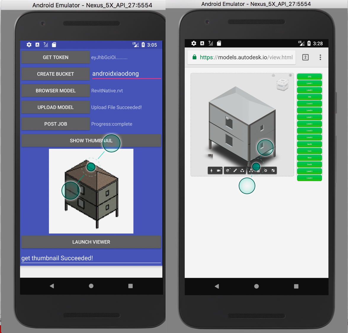 Forge Viewer Workflow Demo in Android Studio | Autodesk Forge