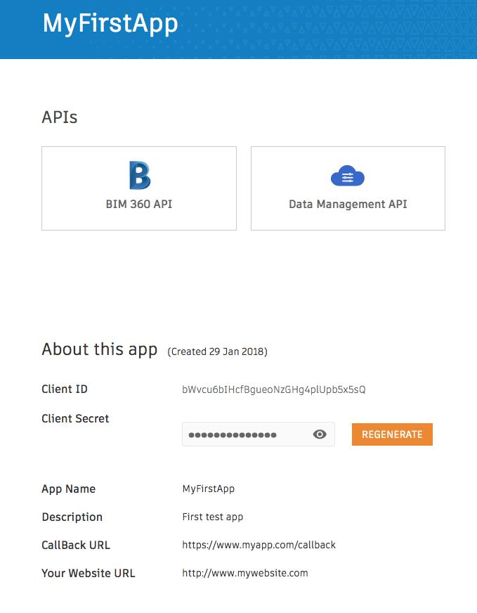 The created App