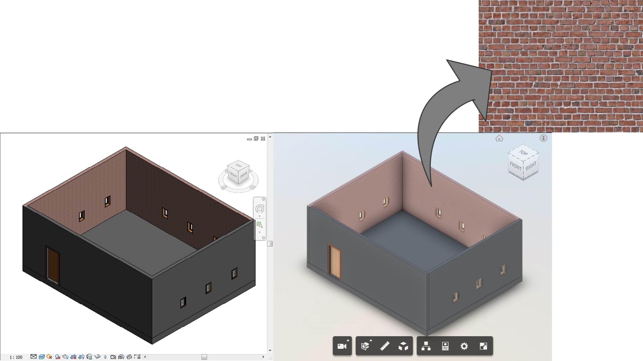 Revit Custom Texture on Forge Viewer