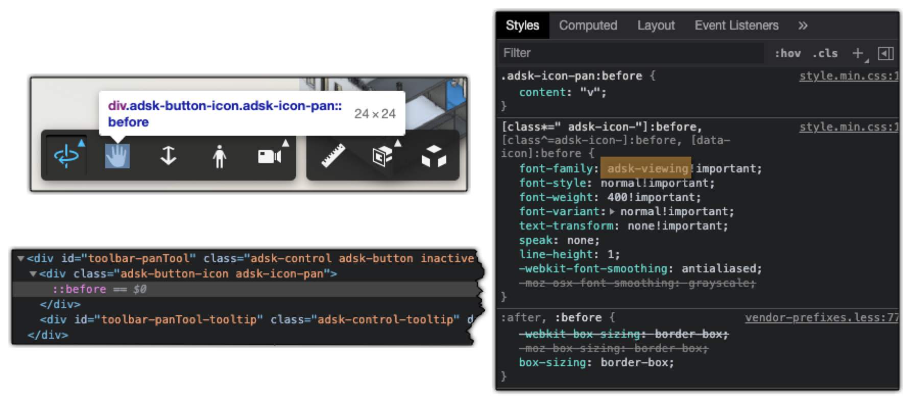 adsk-viewing CSS class