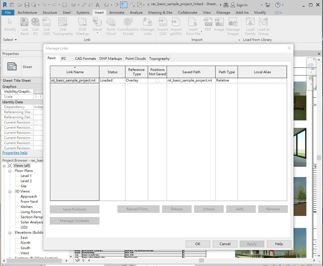 External link configs within Revit