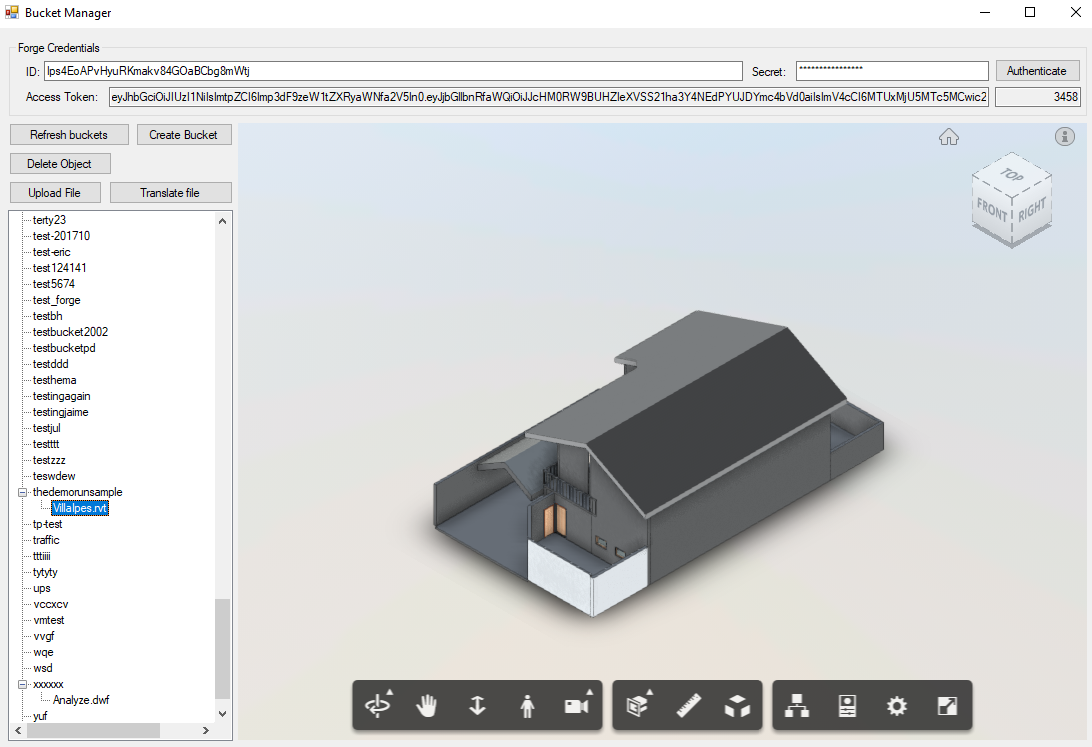 NET sample tool to view buckets | Autodesk Forge
